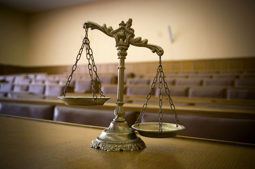Courtroom Scale of Justice
