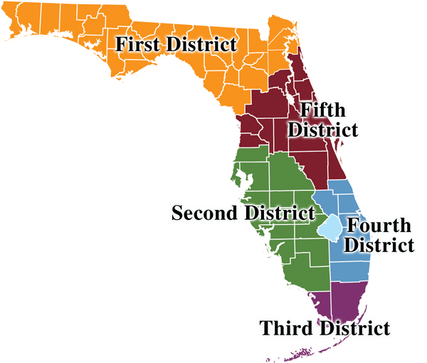 Map of Counsel offices in the state of Florida